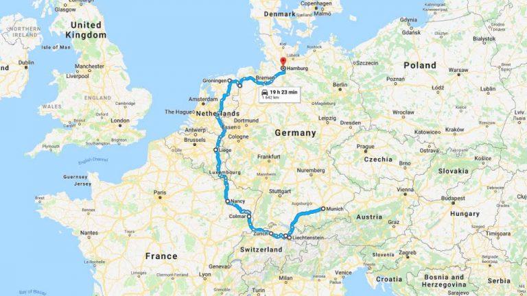 Road Trip Osa 1 3 Saksa Itavalta Liechtenstein Sveitsi