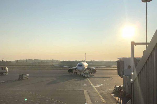 Lentokenttä lentokone