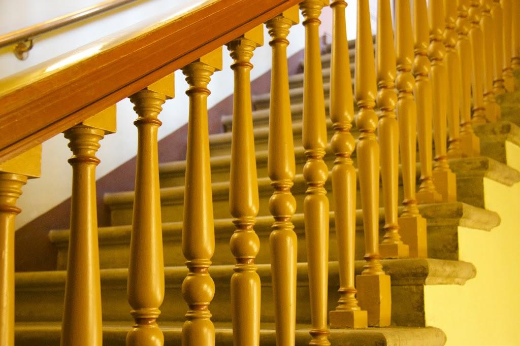 Rikhardinkadun kirjasto portaikko kaide