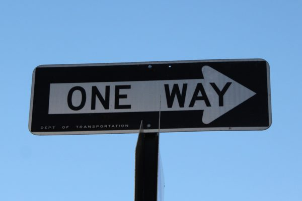 One way Manhattan New York