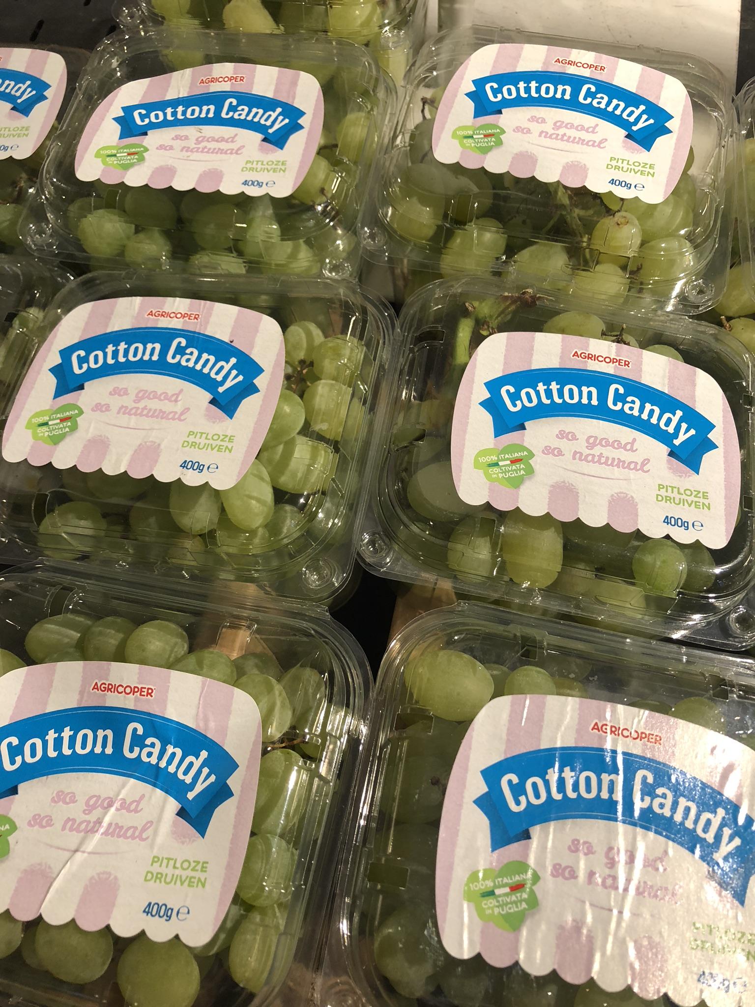 Cotton Candy hattaran makuisia viinirypäleitä