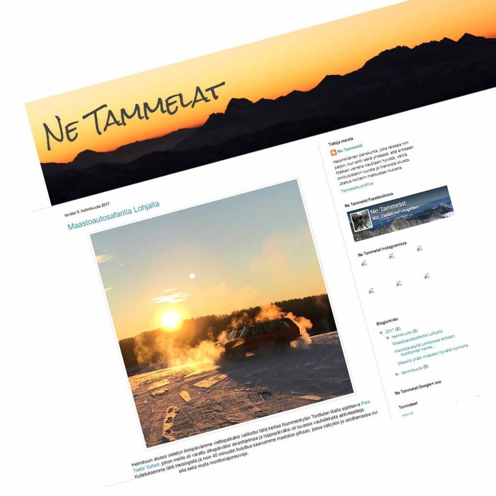 Ne Tammelat vanha blogi