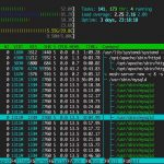 linux shell screenshot htop