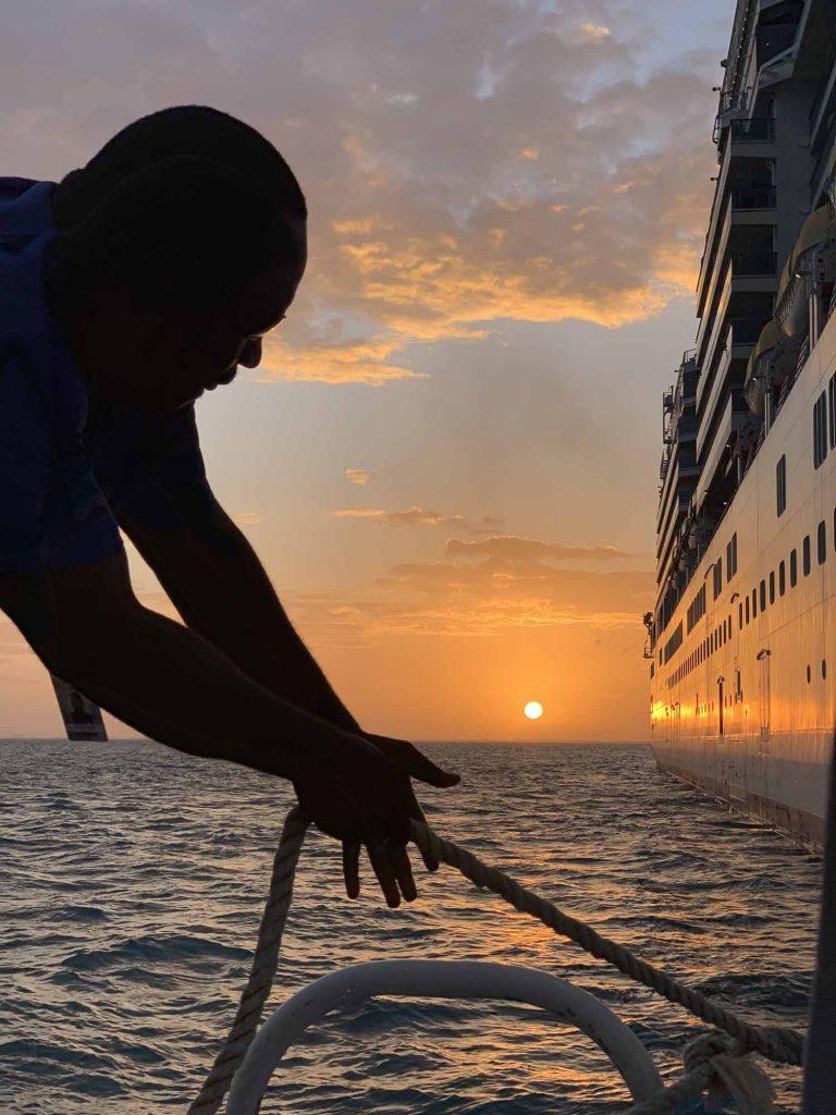 auringonlasku Belizessä