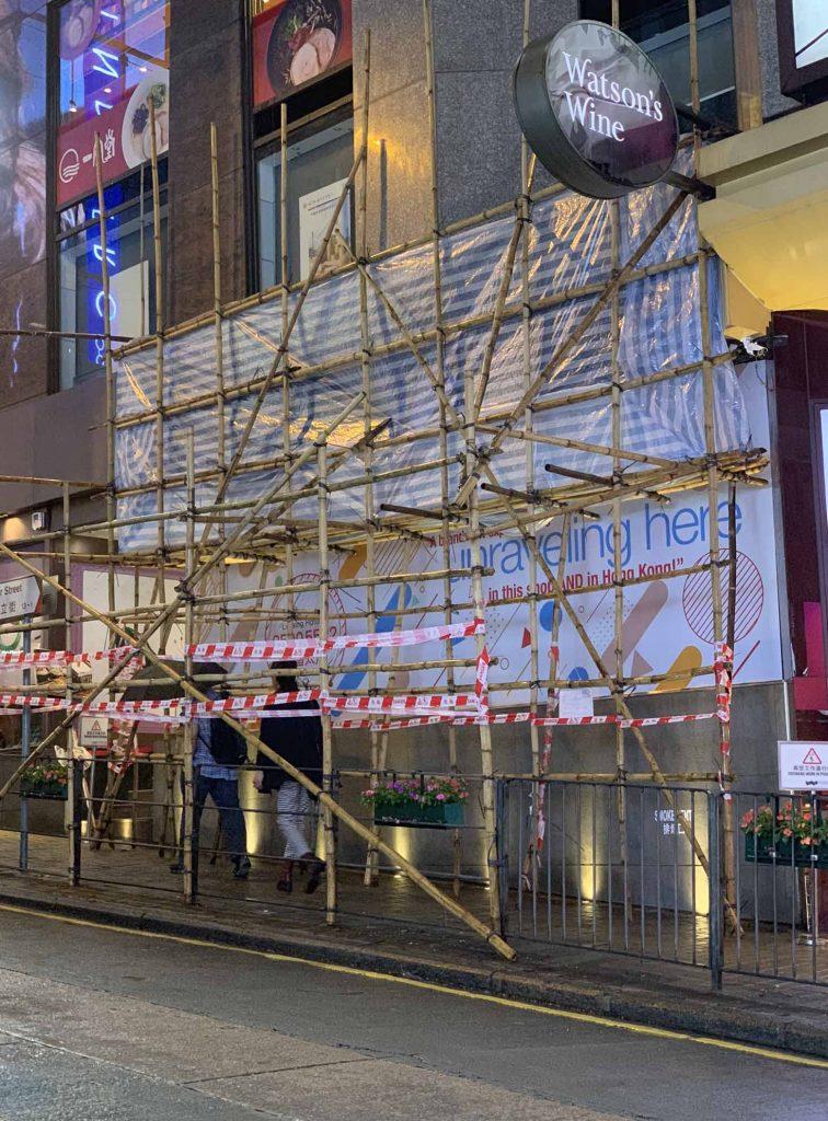 rakennustelineet bambusta