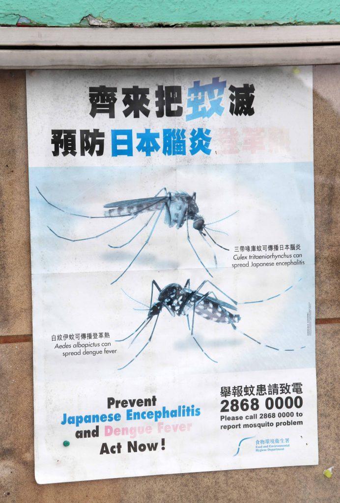 varoitus Dengue-kuumeesta