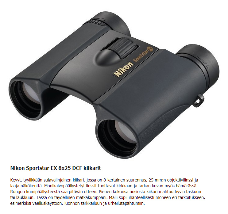 Nikon Sportstar EX kiikarit