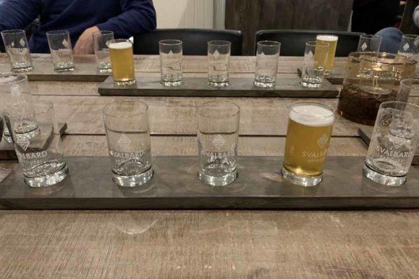 Svalbard Bryggeri tasting
