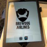 iPad Brewdog Airlines