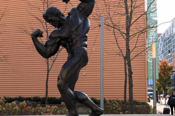 Arnold Schwarzenegger statue Columbus Ohio USA