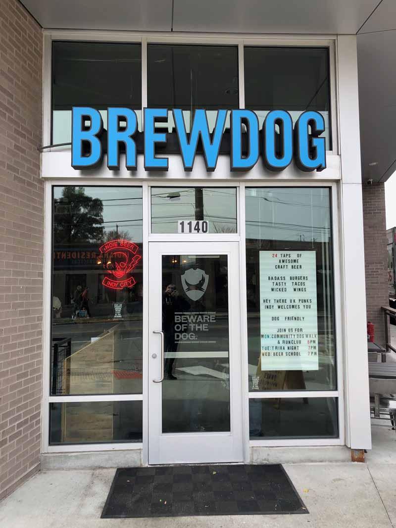 Brewdog Indianapolis Indiana USA front