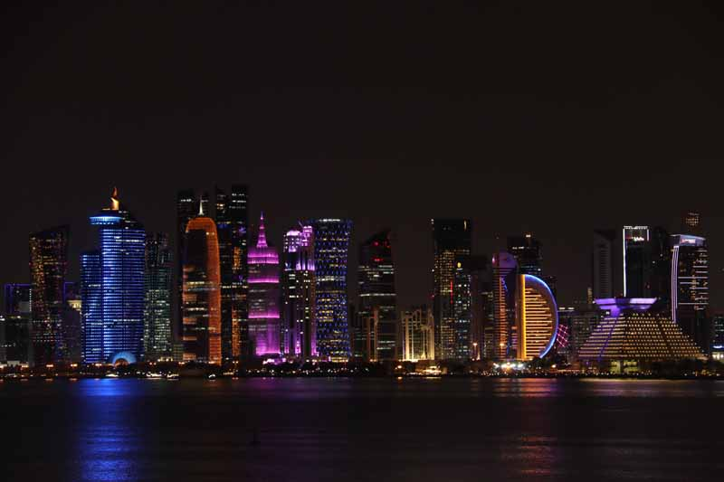 Doha Qatar by night