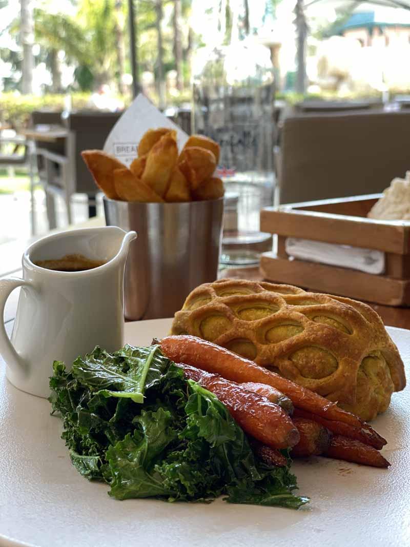 Dubai Gordon Ramsay vegetarian wellington