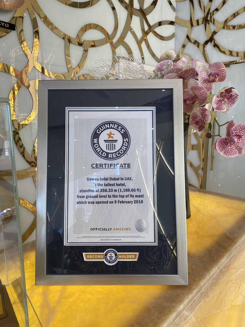 Gevora Guinness World Record tallest hotel maailman korkein hotelli
