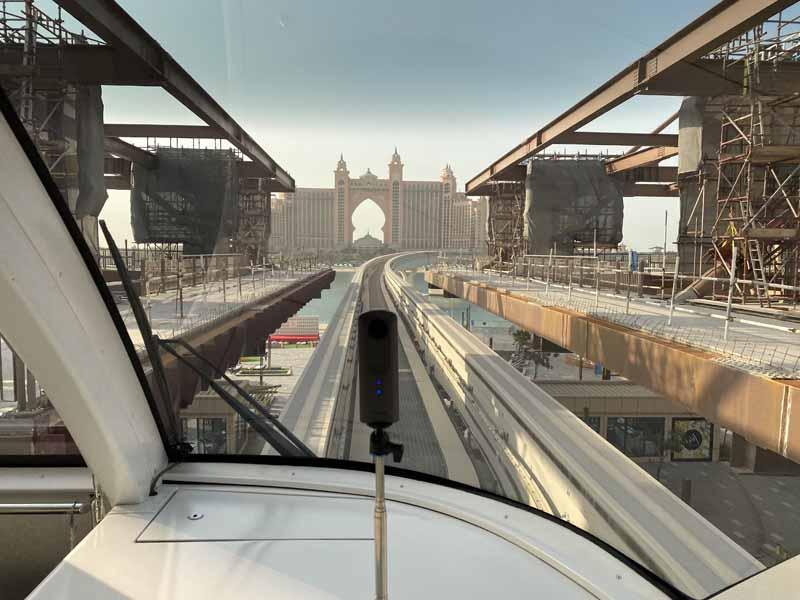 yksiraiteinen Jumeira Palmusaari Palm Island Dubai monorail