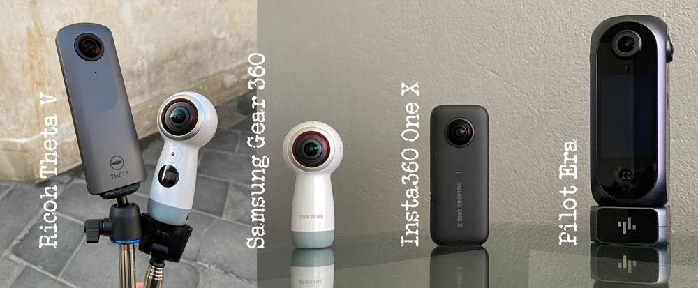 360-kamera Ricoh Theta V Insta360 One X Pilot Era Samsung Gear 360