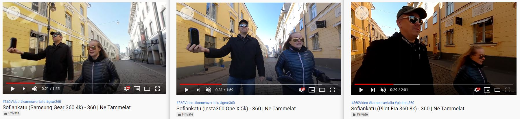 360-video vertailu 4k 5,7k 8k Sofiankatu