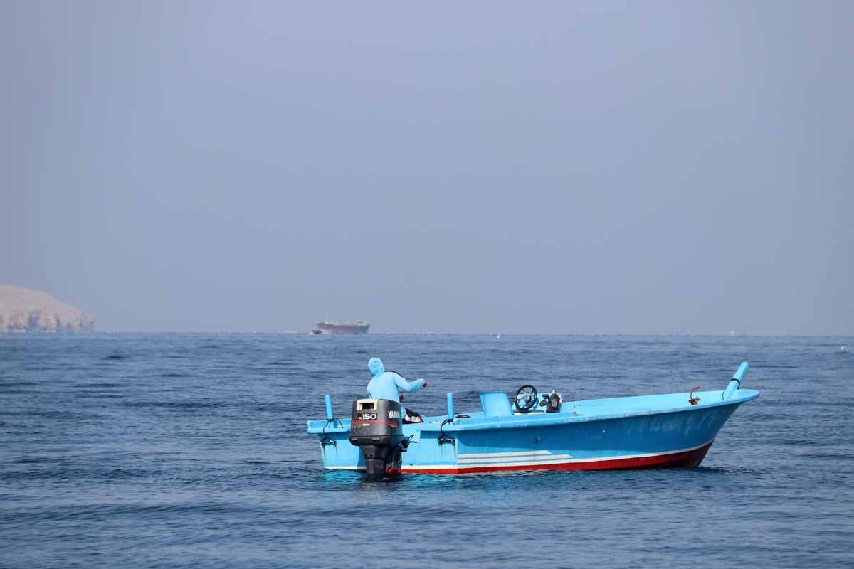 vene Khasab Bay Oman boat