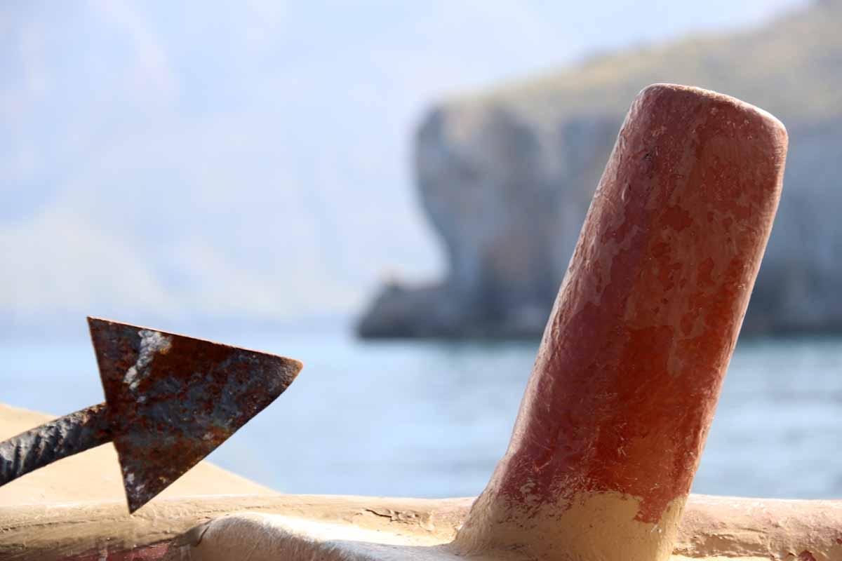 ankkuri tappi Khasabinlahti Khasab Bay Oman anchor dhow