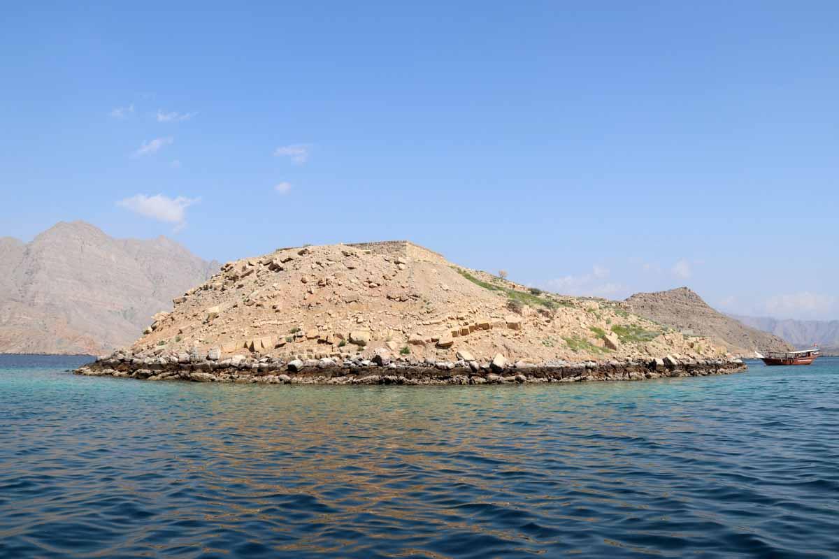 Telegraph Islan Khasab Bay Oman historical site