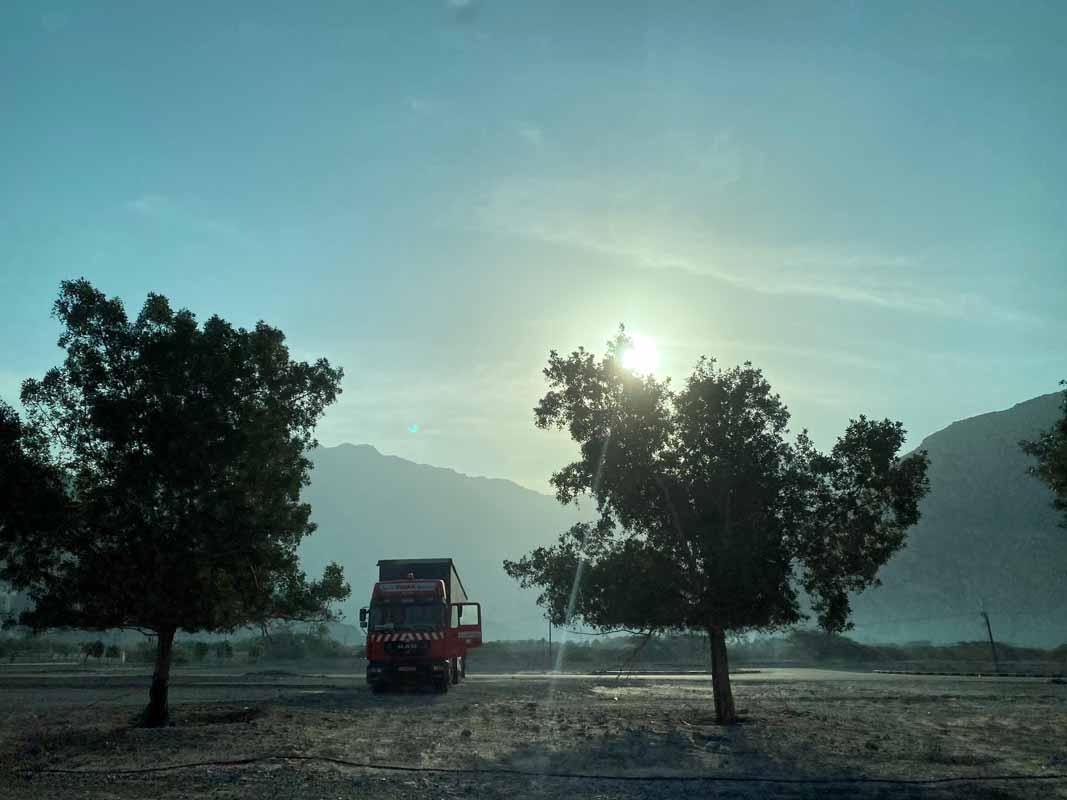 auringonnousu Oman sunrise