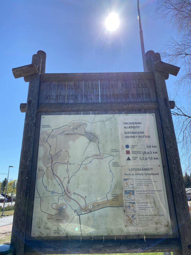 Paloheinä Keskuspuisto kartta