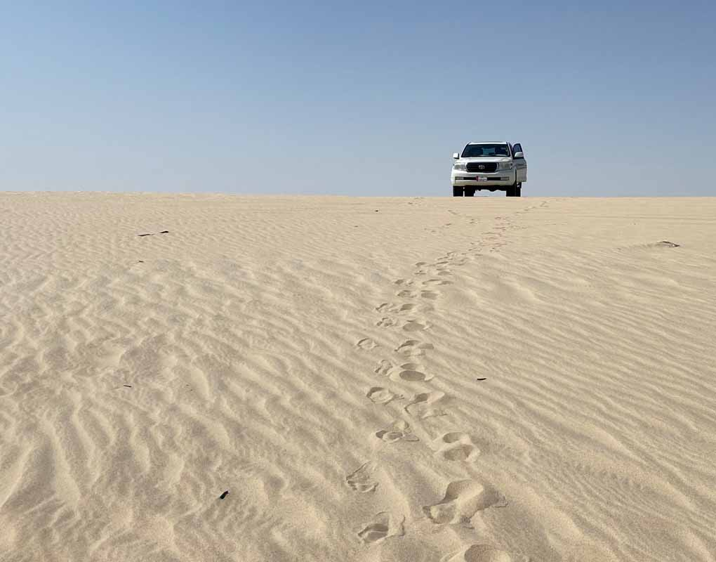 Qatar desert Toyota Landcruiser