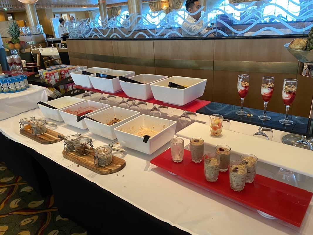 Jewel of the Seas aamupala breakfast buffet