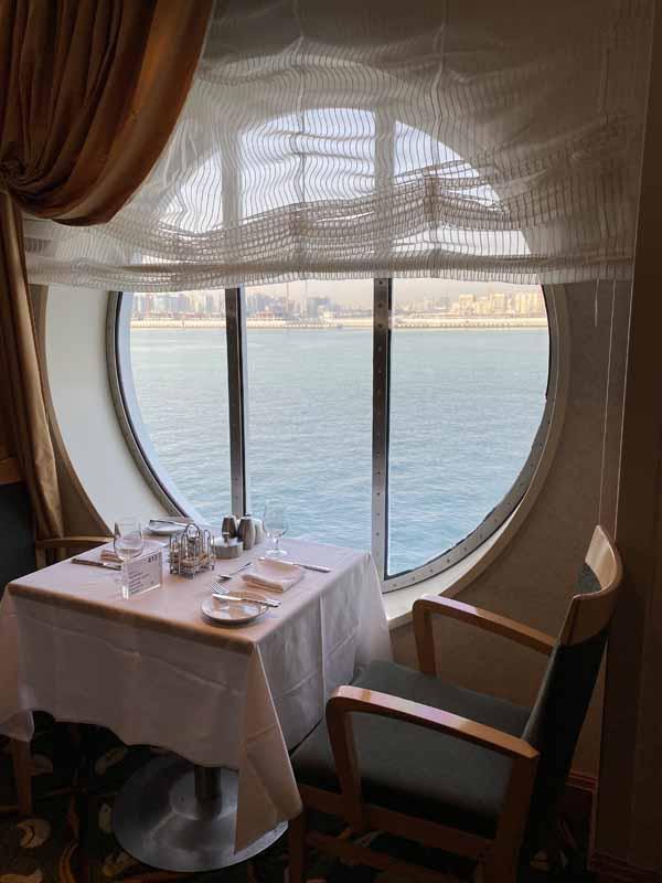 Jewel of the Seas a la carte ravintola restaurant ikkunapöytä window table