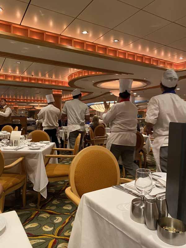 Jewel of the Seas keittiön väki kitchen staff farewell