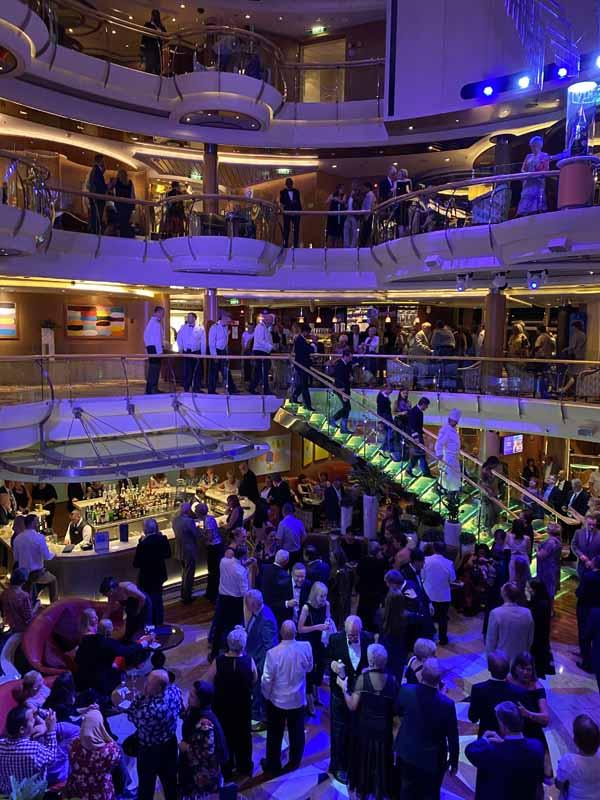Jewel of the Seas aula lobby staff greeting farewell