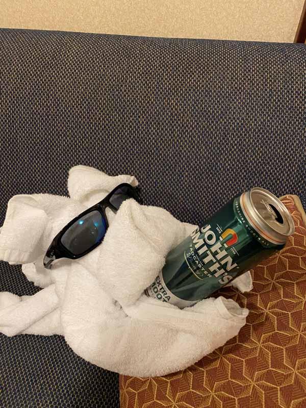 Jewel of the Seas Bilal pyyhe eläin koira towel animal beer olut John Smith's