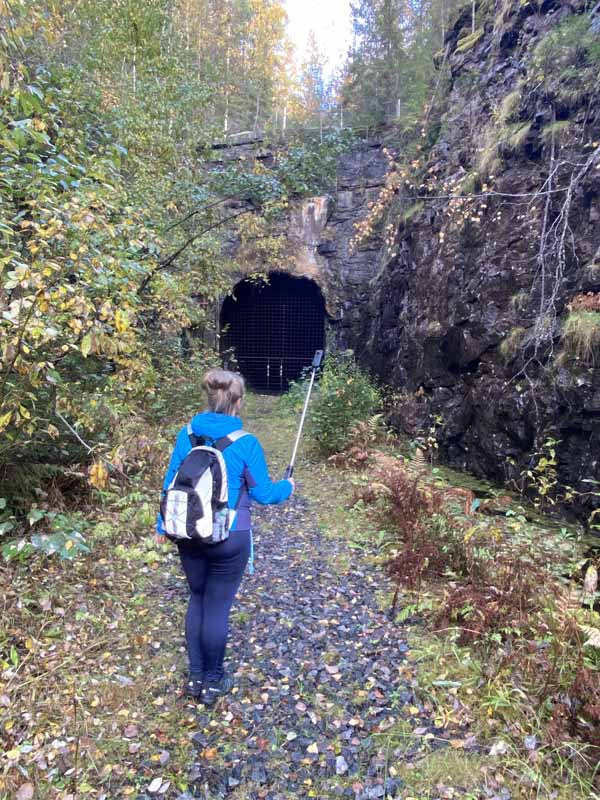 Pönttövuori tunnelin suu 360-kamera tunnel cave