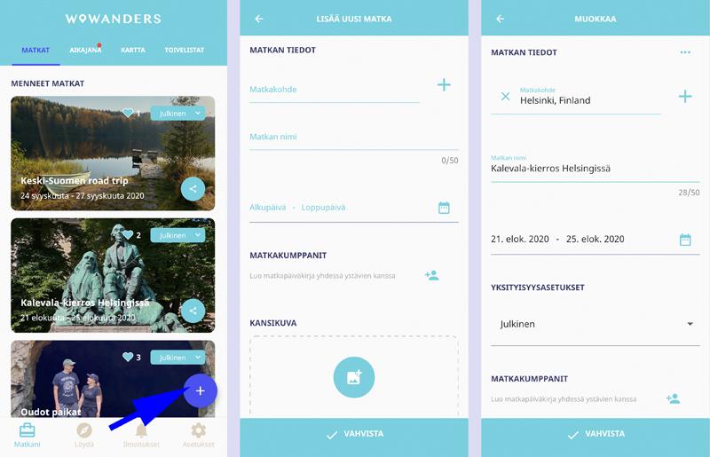 Näin luot Wowanders-matkapäiväkirjan ja löydät vinkkejä Suomesta sekä maailmalta 2