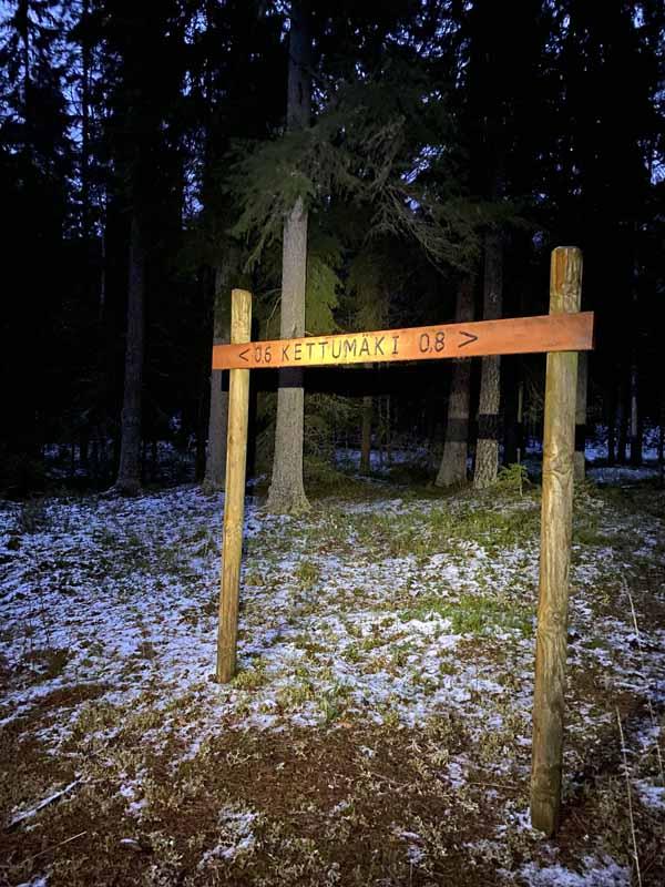 Kettumäki pururata Liesjärvi Tammela