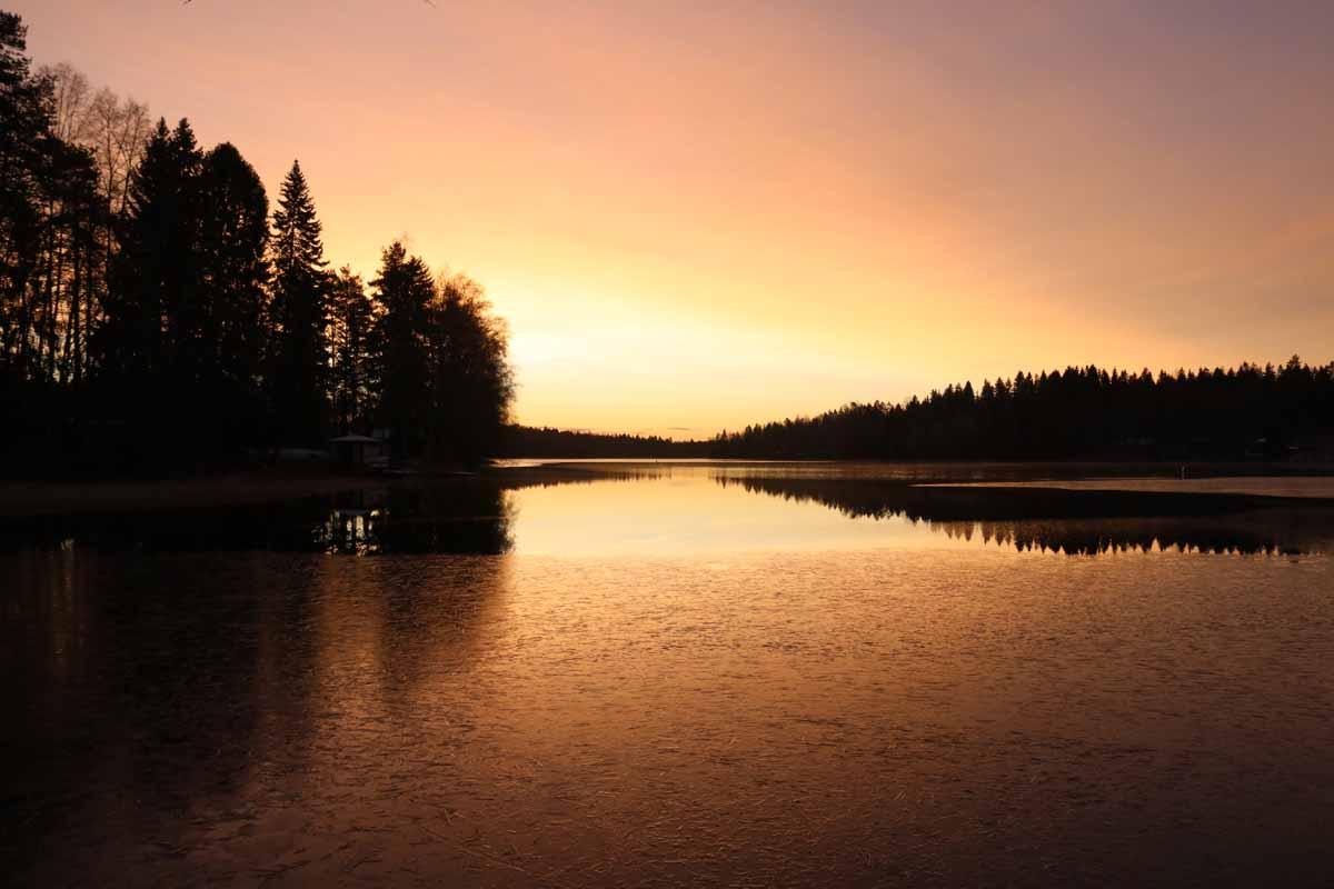 auringonnousu sunrise Liesjärvi Tammela Suomi Finland