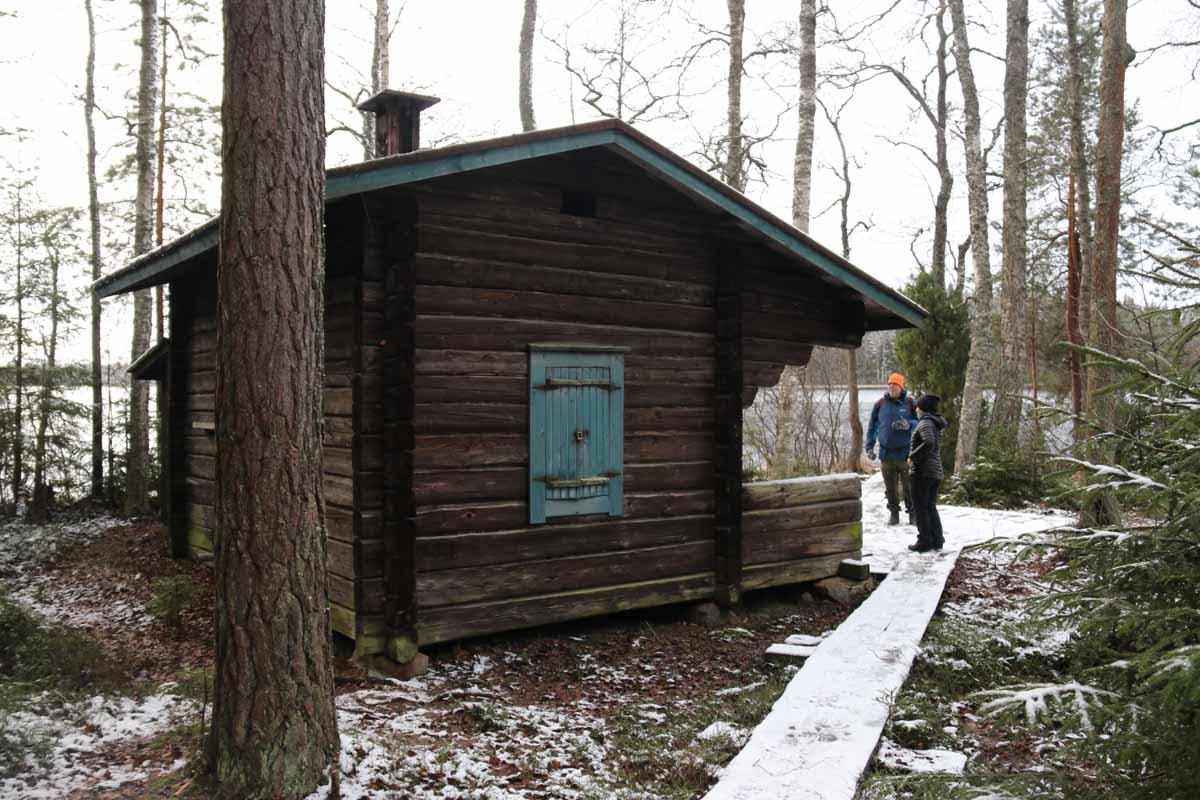 savusauna Erärenki Liesjärven kansallispuisto