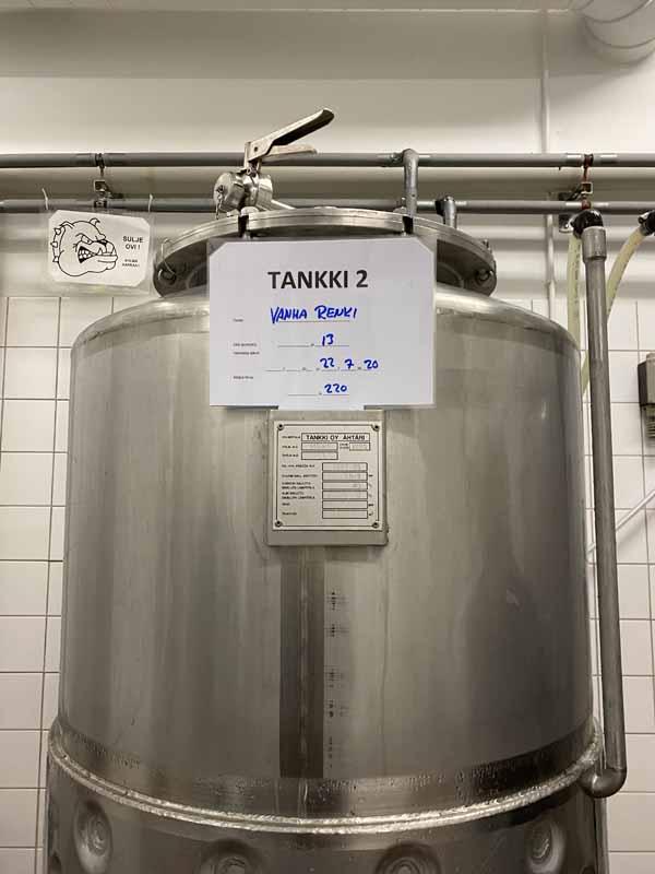 Kuninkaankartanon Panimo olut tankki säiliö Vanha Renki