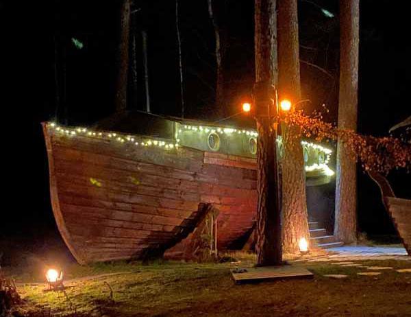 saunalaiva laiva sauna Viikinkisauna Urpolan Kartano Humppila