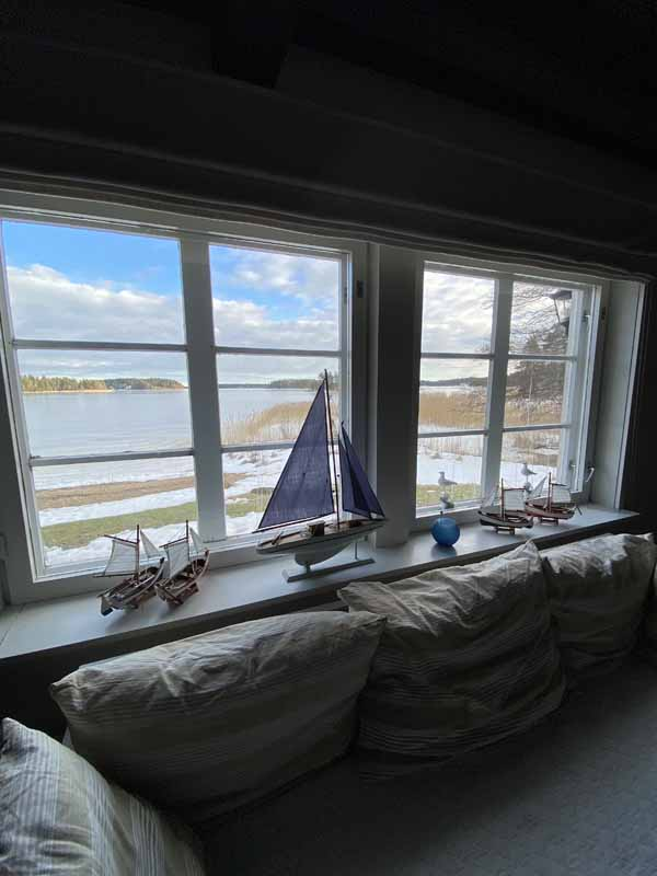 Saaristo Calliola meri näköala sea view window archipelago suite