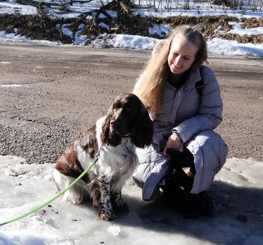 Katri ja Raaseporin linnan Bella-koira