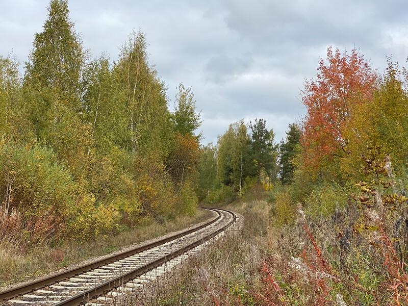 syksyinen junarata